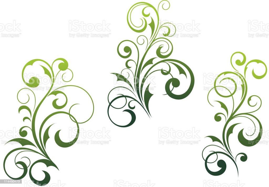 Floral motifs royalty-free stock vector art