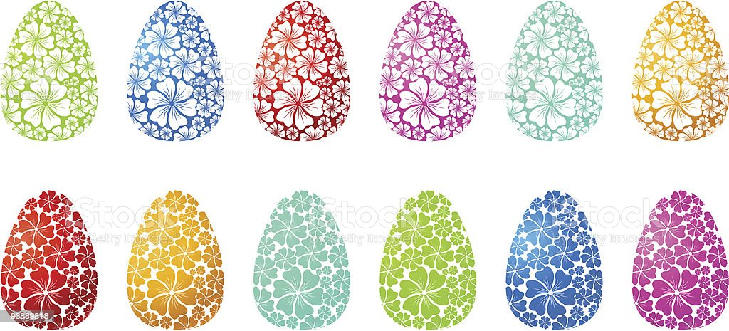 Floral Ornament / Easter Eggs / Vector royalty-free stock vector art