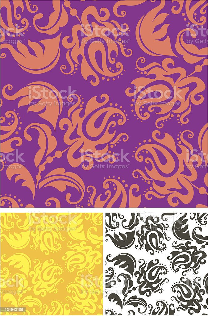 Floral ornament. Fabric. royalty-free stock vector art