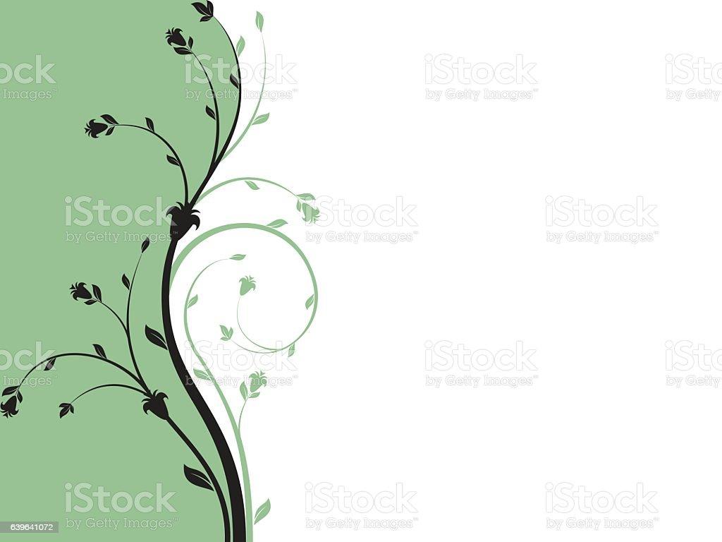 Floral ornament vector art illustration