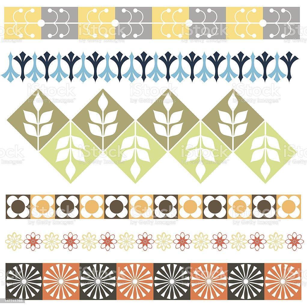 Floral Ornamental Borders (Vector) royalty-free stock vector art