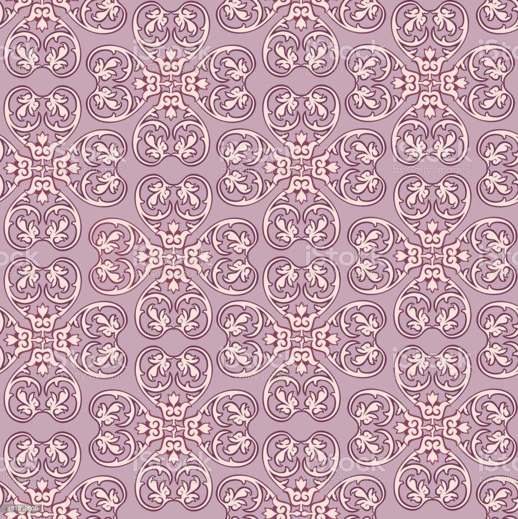 Floral Ornamental Lilac Seamless Texture. royalty-free stock vector art