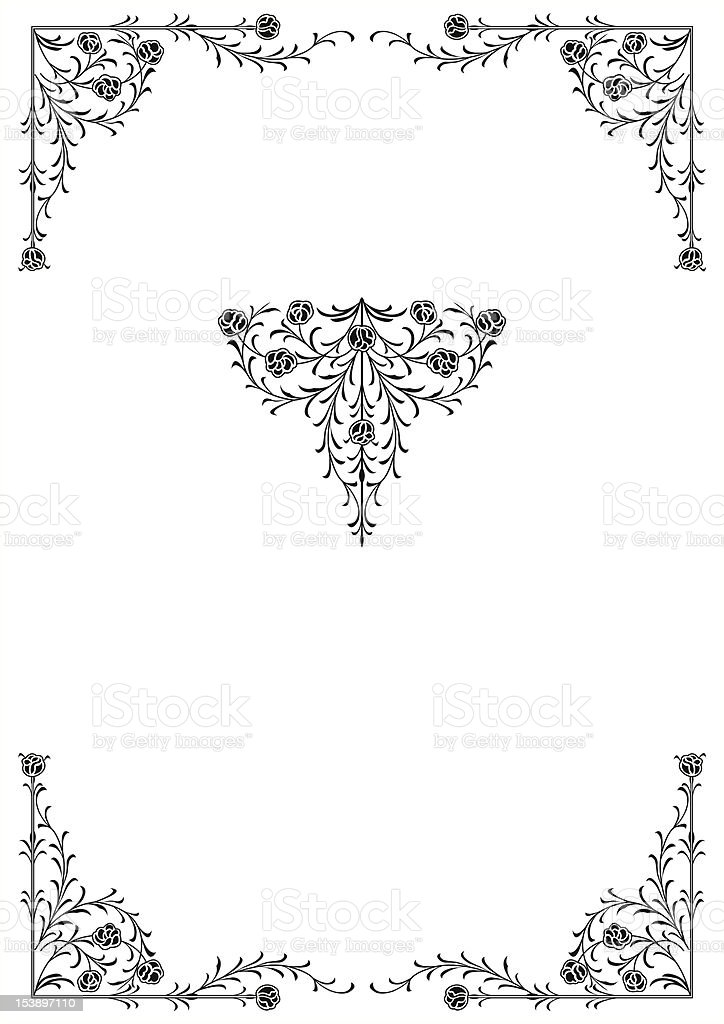 floral ornaments royalty-free stock vector art