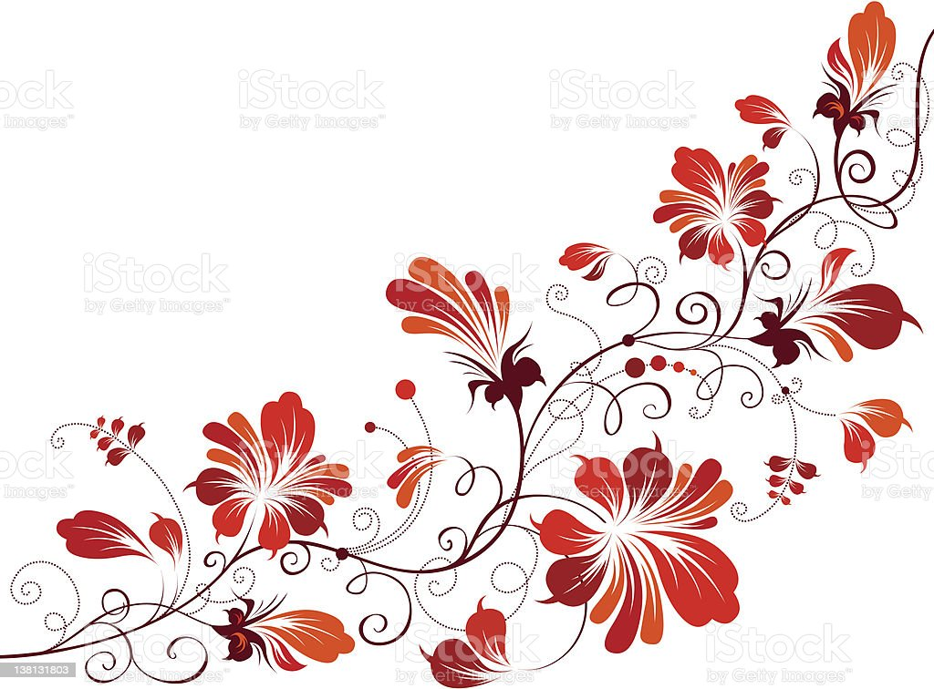 Floral painting royalty-free stock vector art