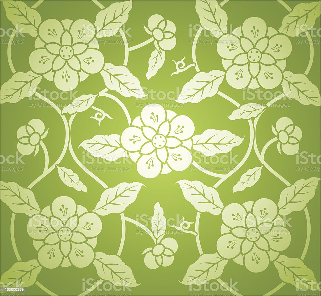 Floral Pattern Background royalty-free stock vector art