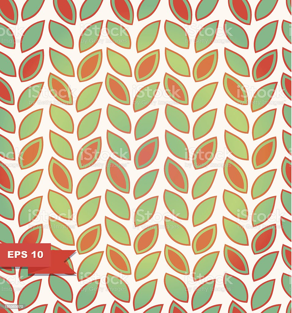 Floral pattern, Background with rows of leafs royalty-free stock vector art