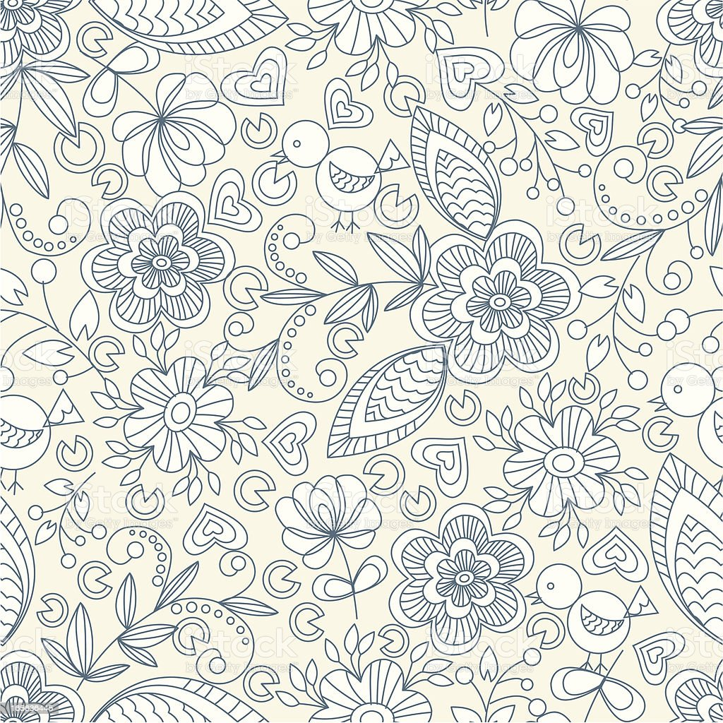 Floral pattern - exclusive to istockphoto royalty-free stock vector art