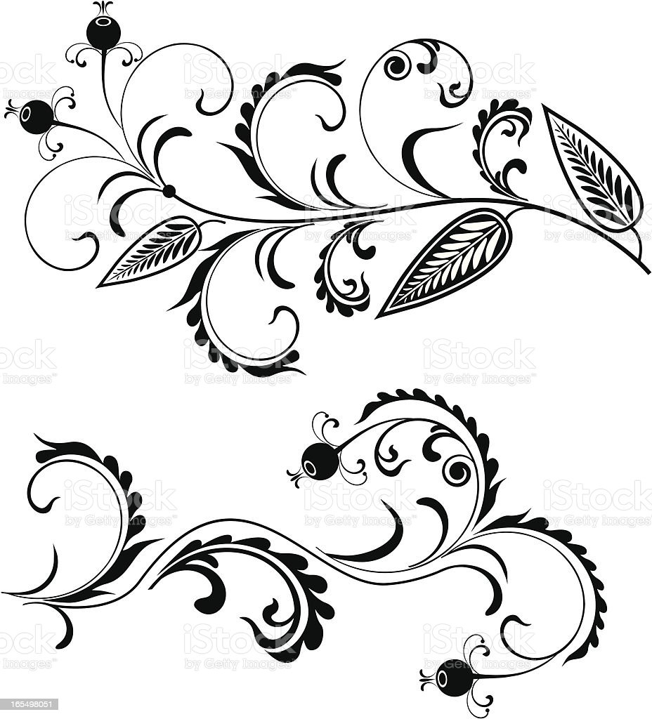 floral pattern IV royalty-free stock vector art