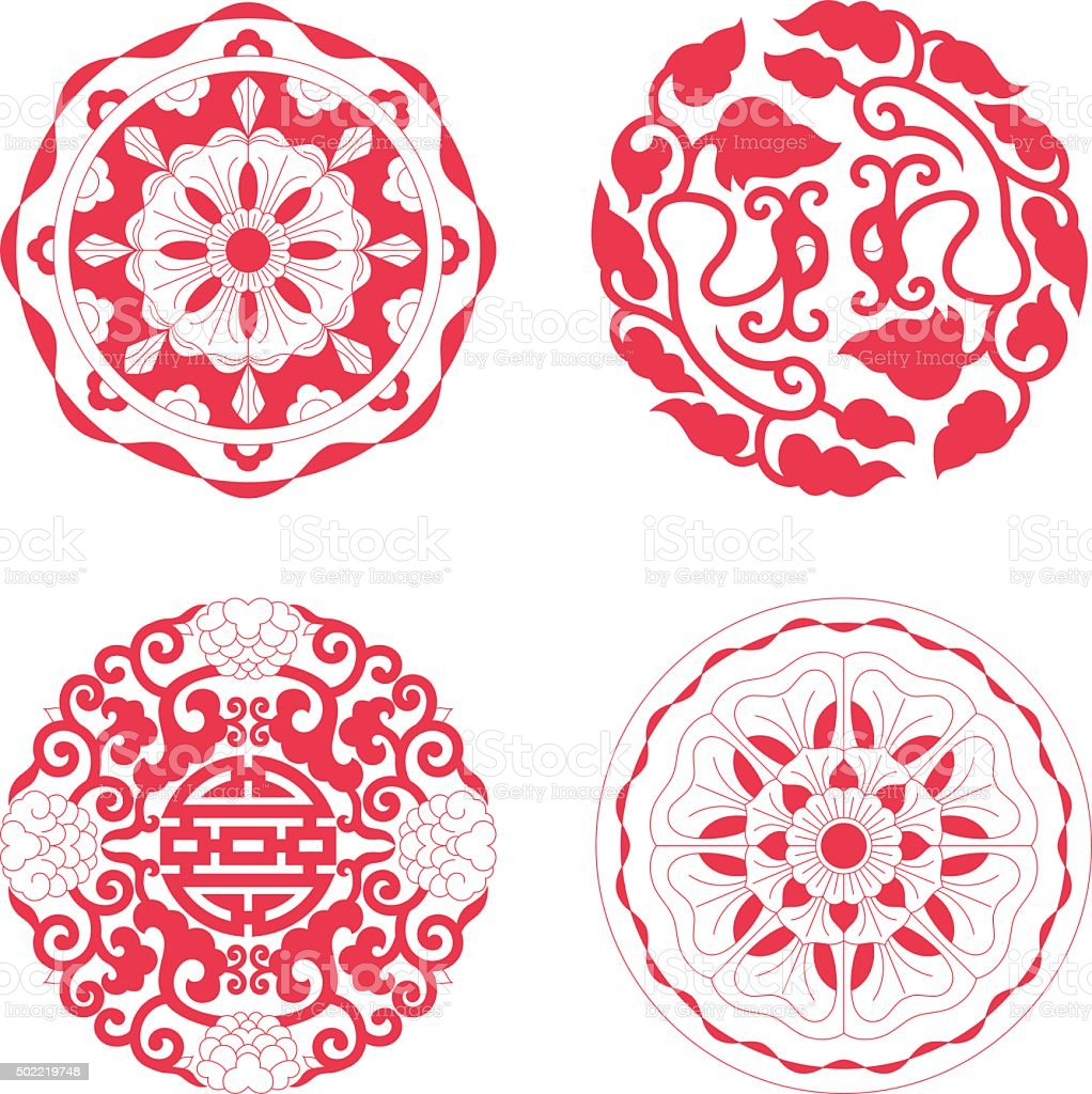 Floral Pattern of China style vector art illustration