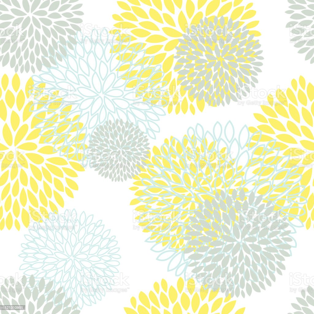 Floral Pattern Seamless Background royalty-free stock vector art