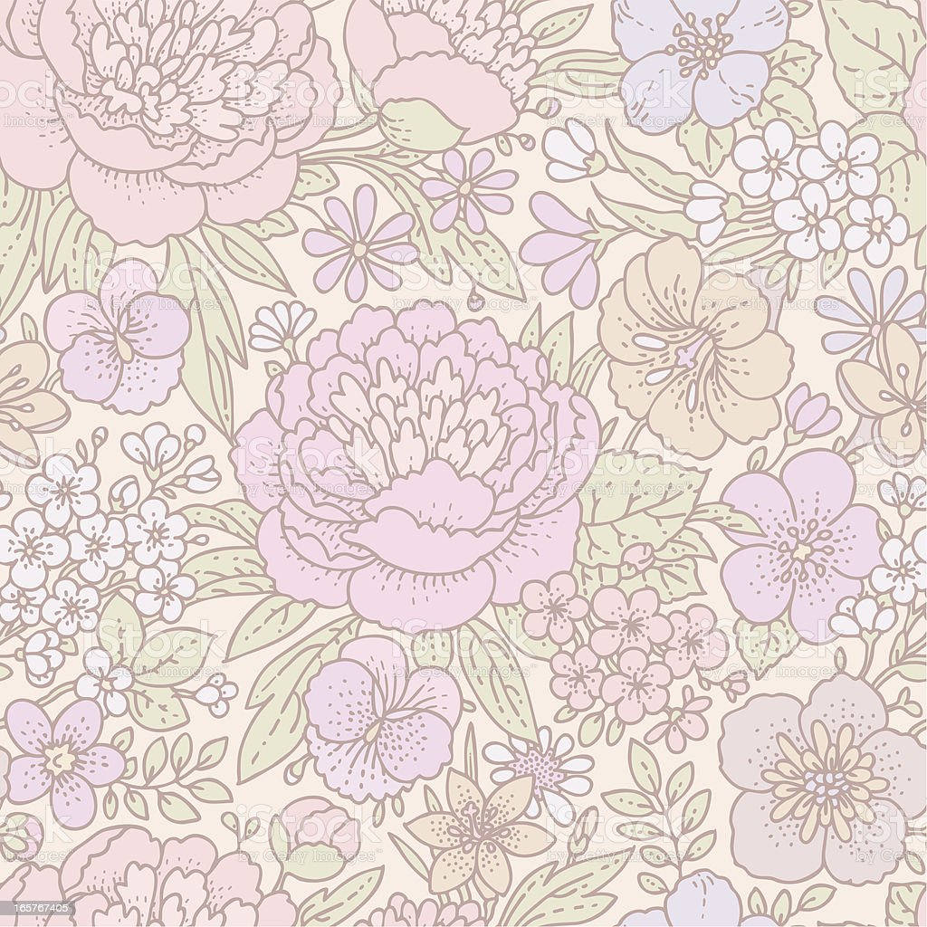 Floral Pattern Seamless royalty-free stock vector art