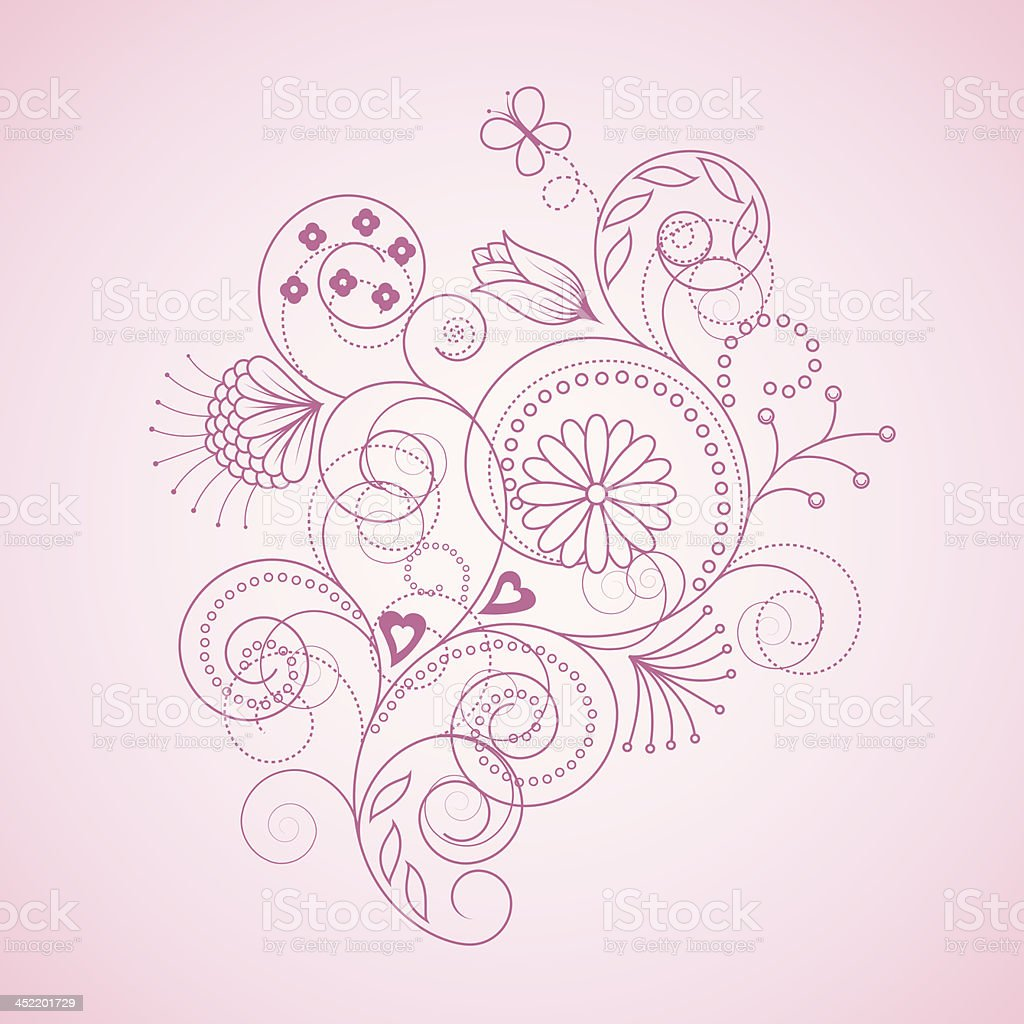 floral pattern royalty-free stock vector art