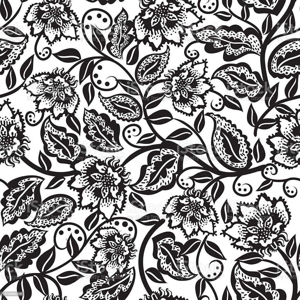 Floral pattern . vector art illustration