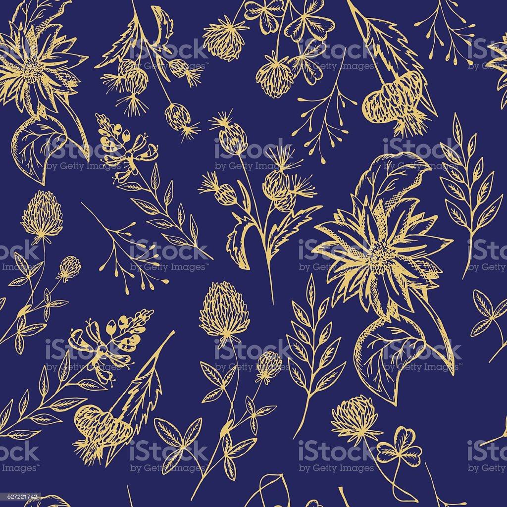 Floral pattern vector art illustration