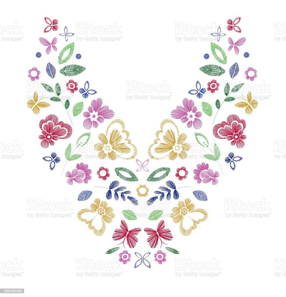 Floral pattern vector art illustration