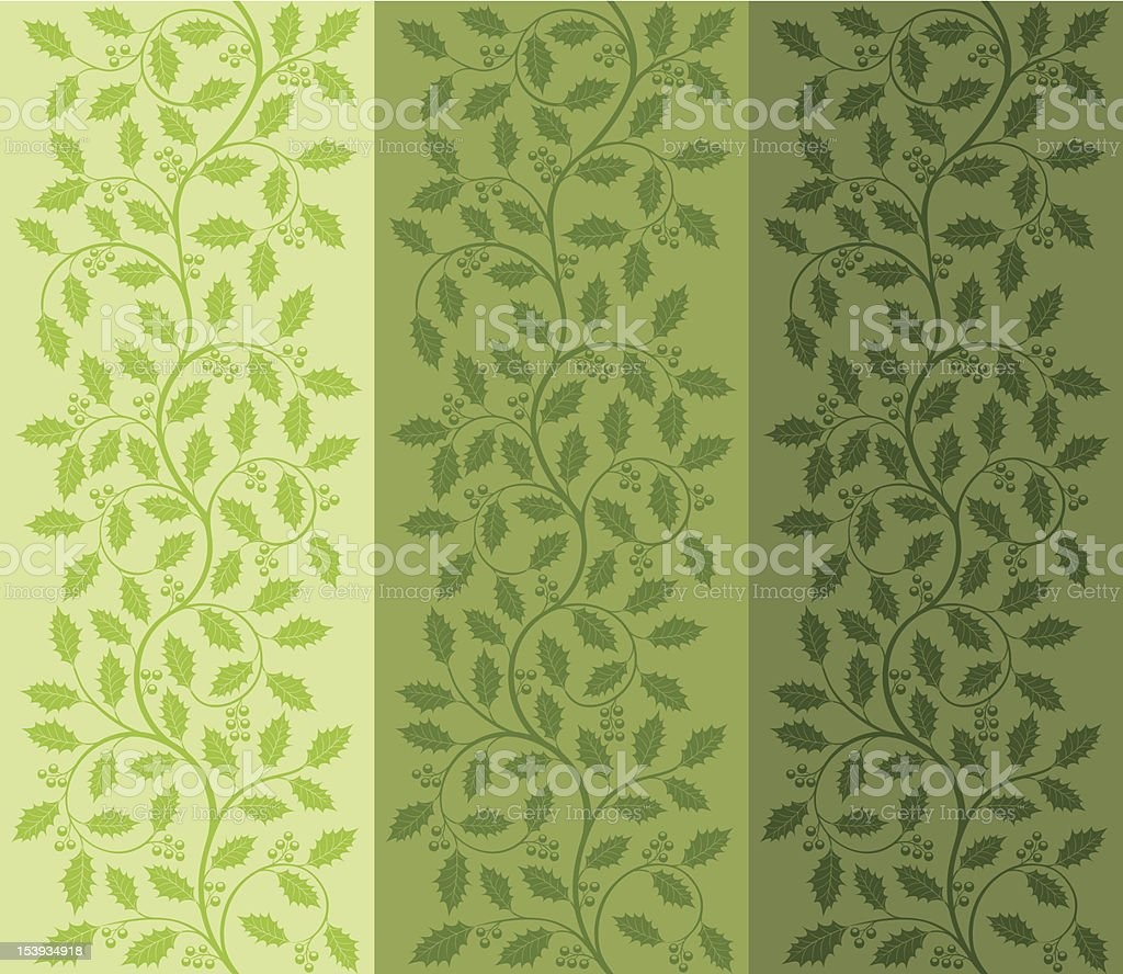 Floral pattern with ilex royalty-free stock vector art