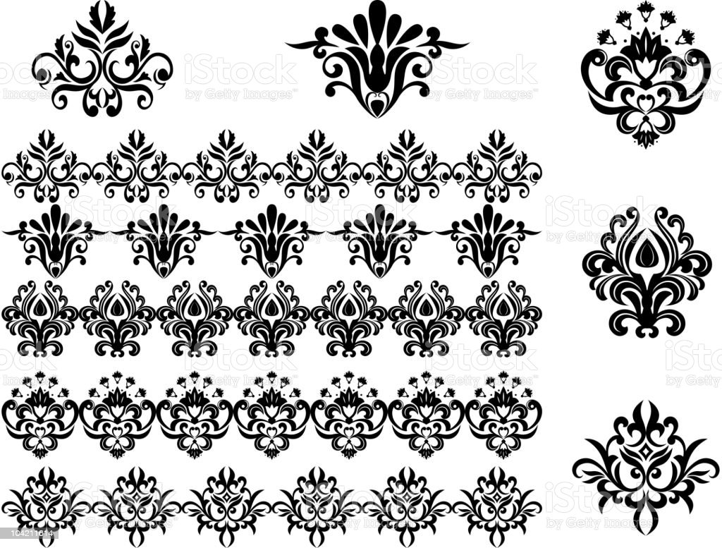 Floral patterns for design royalty-free stock vector art