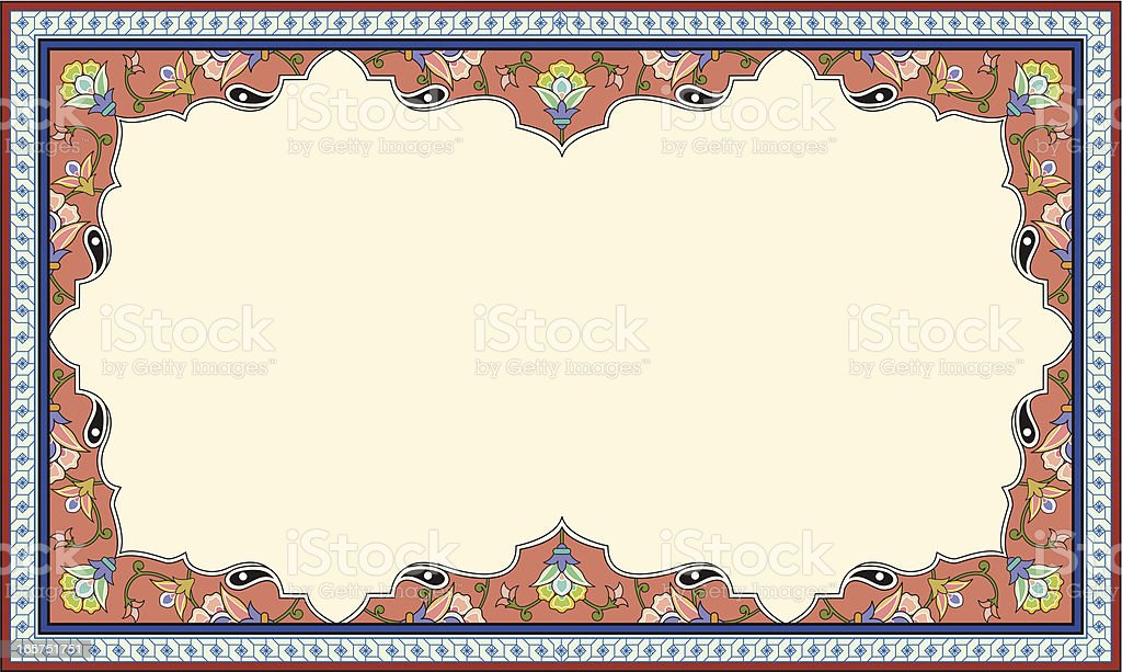 floral picture frame royalty-free stock vector art