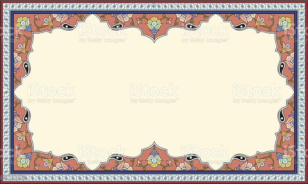 floral picture frame vector art illustration