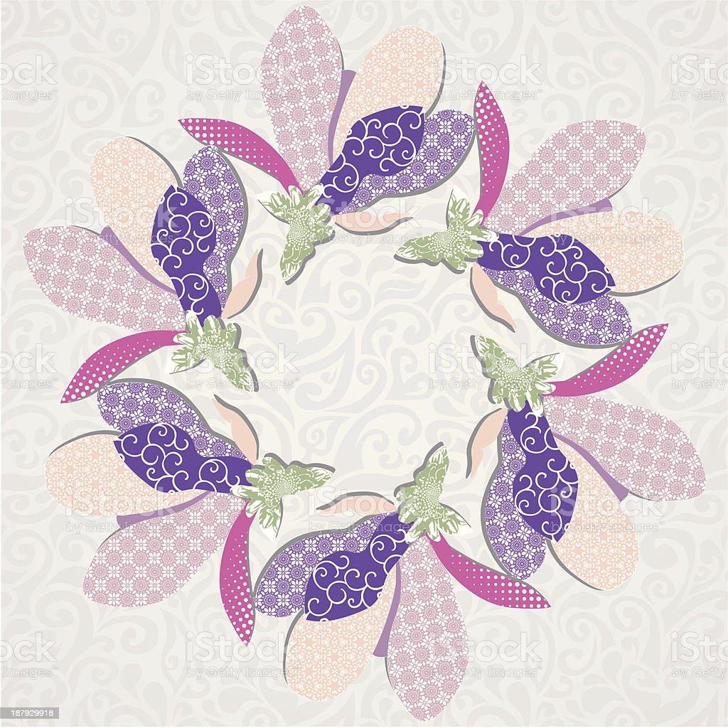 floral postcard royalty-free stock vector art
