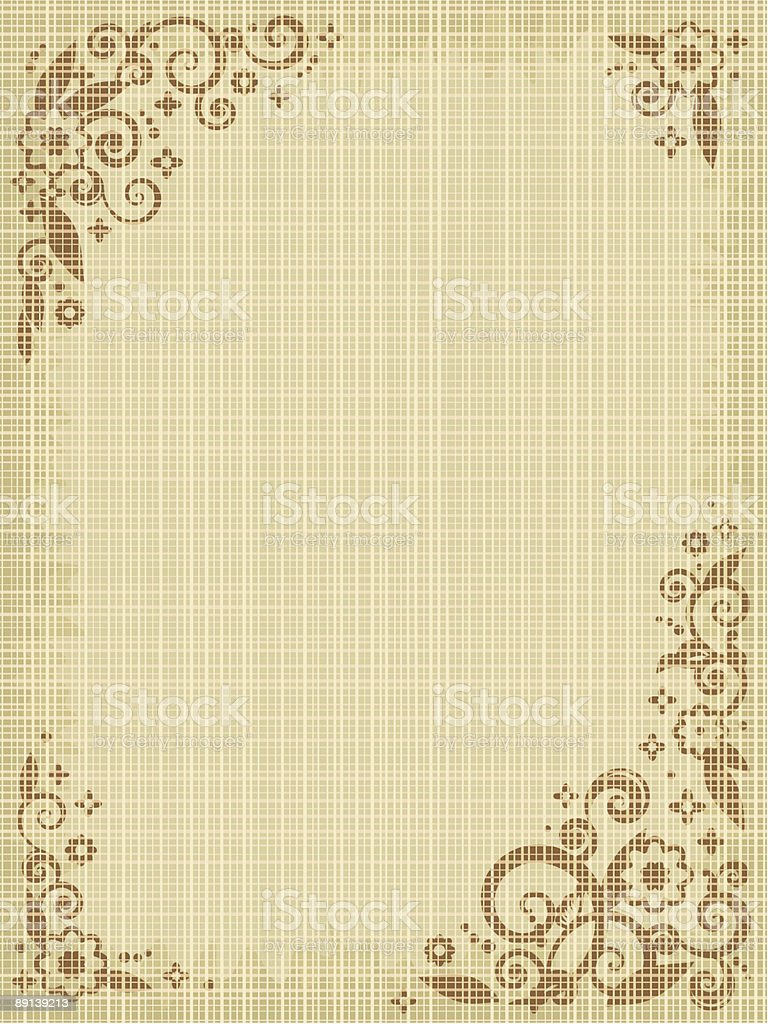 Floral print canvas background royalty-free stock vector art