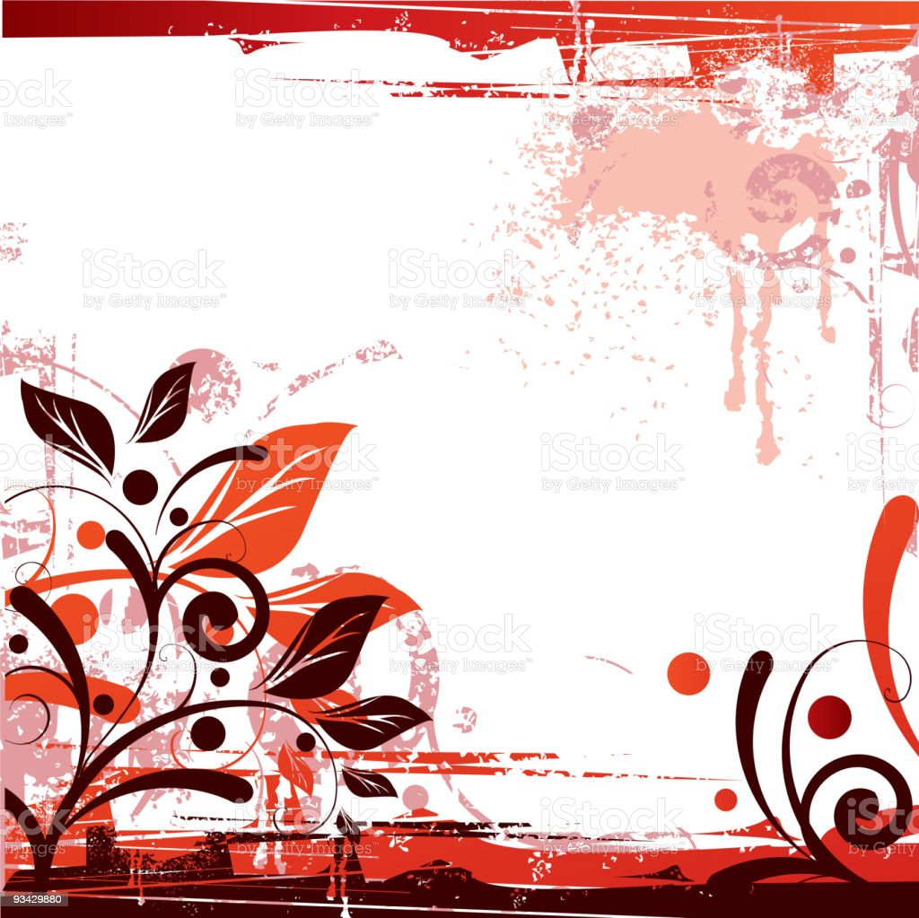 Floral red background royalty-free stock vector art