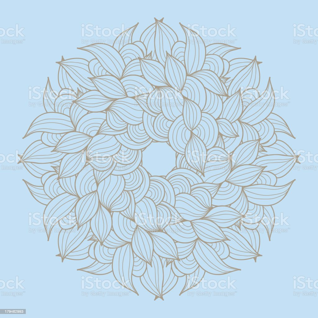 Floral rosette royalty-free stock vector art