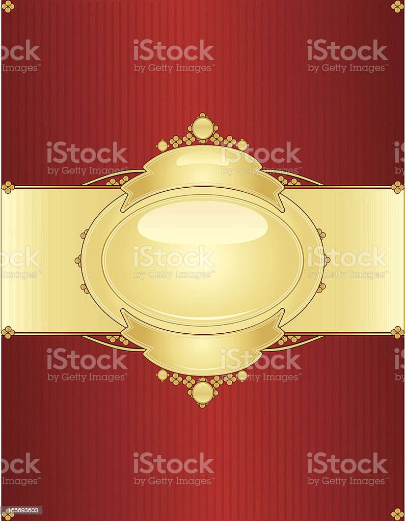 Mit Girlanden Hintergrund Design-Rot, glänzendes Gold Lizenzfreies vektor illustration