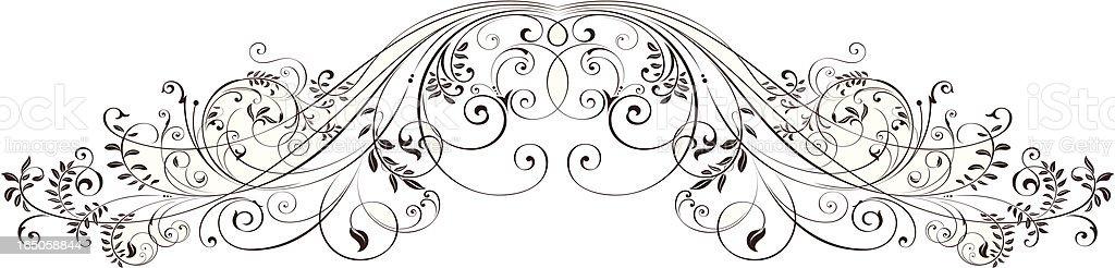 Floral Scrolls vector art illustration