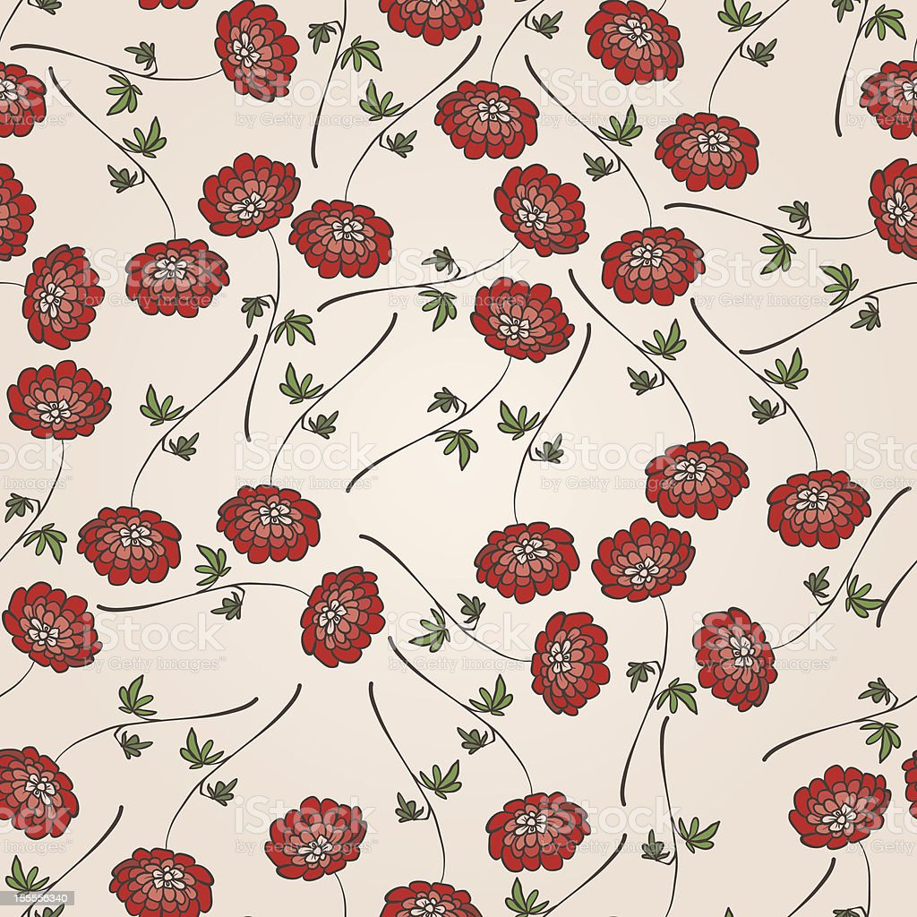 Floral seamless abstract hand-drawn pattern / background. royalty-free stock vector art
