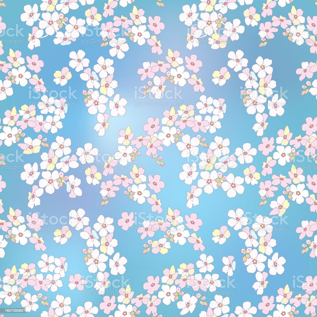 floral seamless background. gentle flower pattern. royalty-free stock vector art