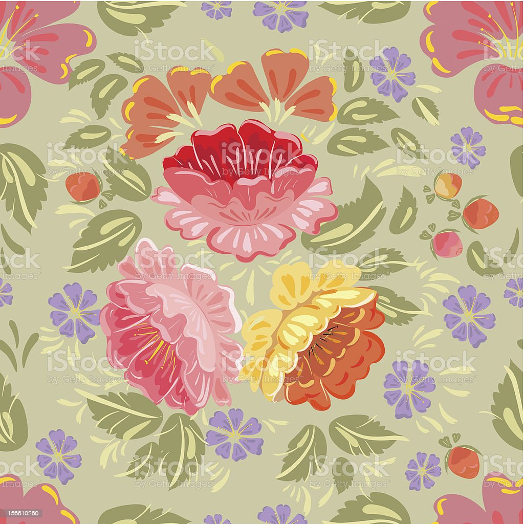 Floral seamless background texture royalty-free stock vector art