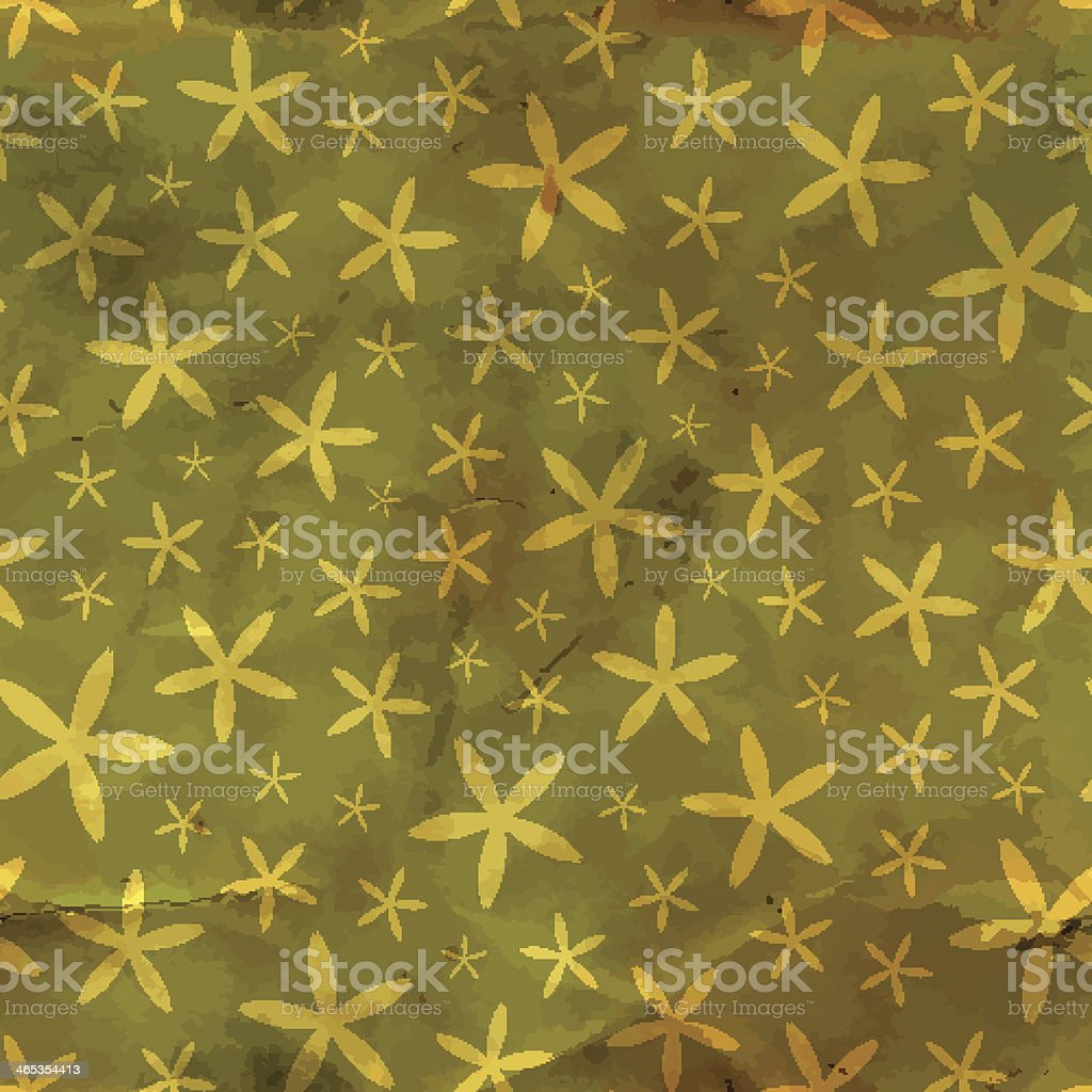 Floral seamless background. vector art illustration