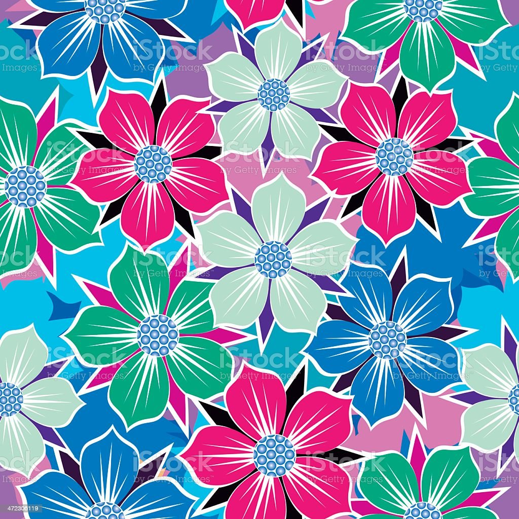 Floral seamless background. royalty-free stock vector art