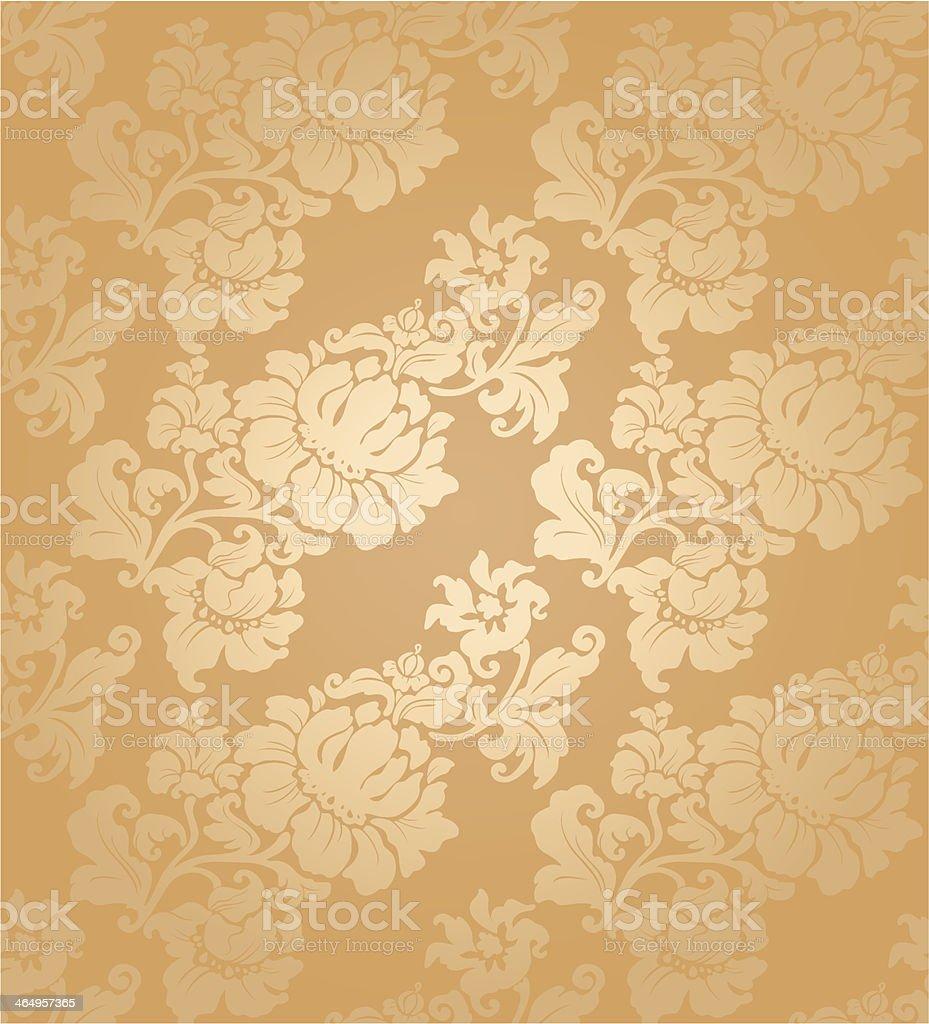 Floral Seamless pattern, gold векторная иллюстрация