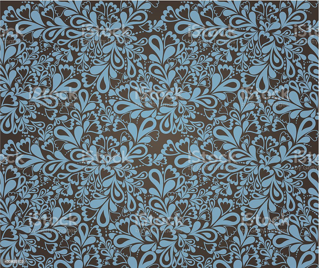Floral seamless pattern in retro style. Vector royalty-free stock vector art