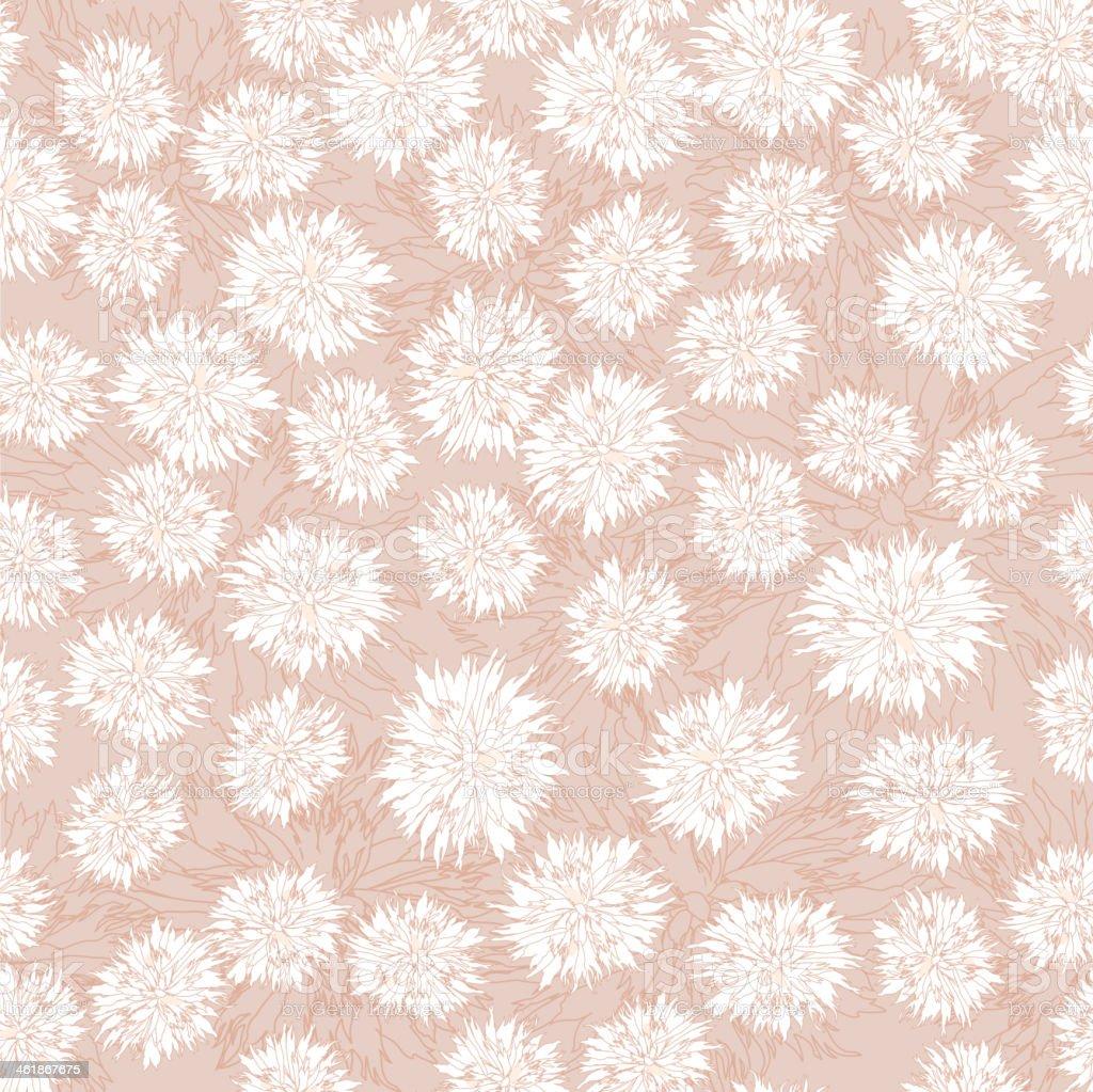 floral seamless pattern of chrysanthemums - Illustration vector art illustration