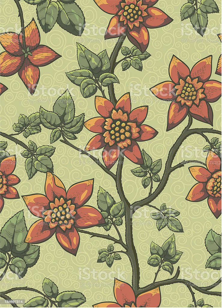 Floral seamless pattern. royalty-free stock vector art