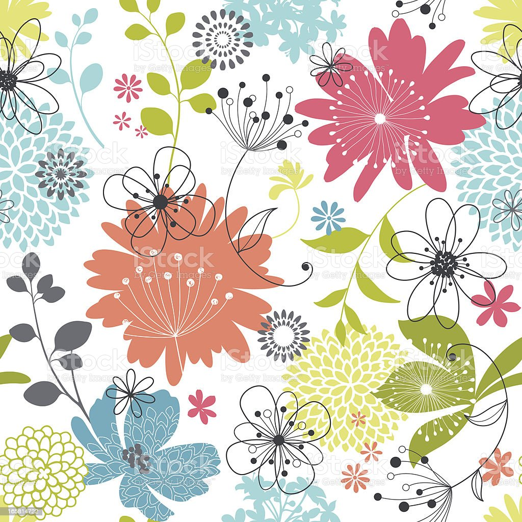 Floral Seamless Pattern vector art illustration