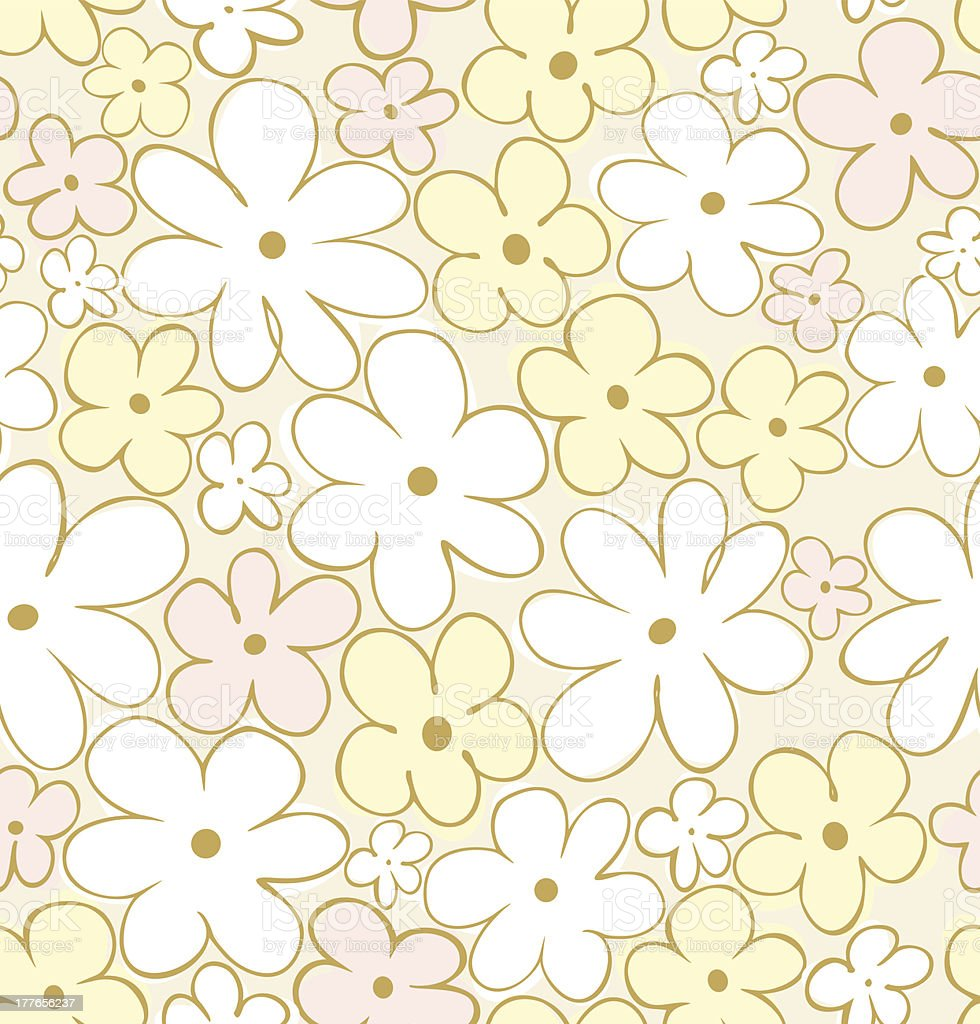 Floral seamless pattern royalty-free stock vector art