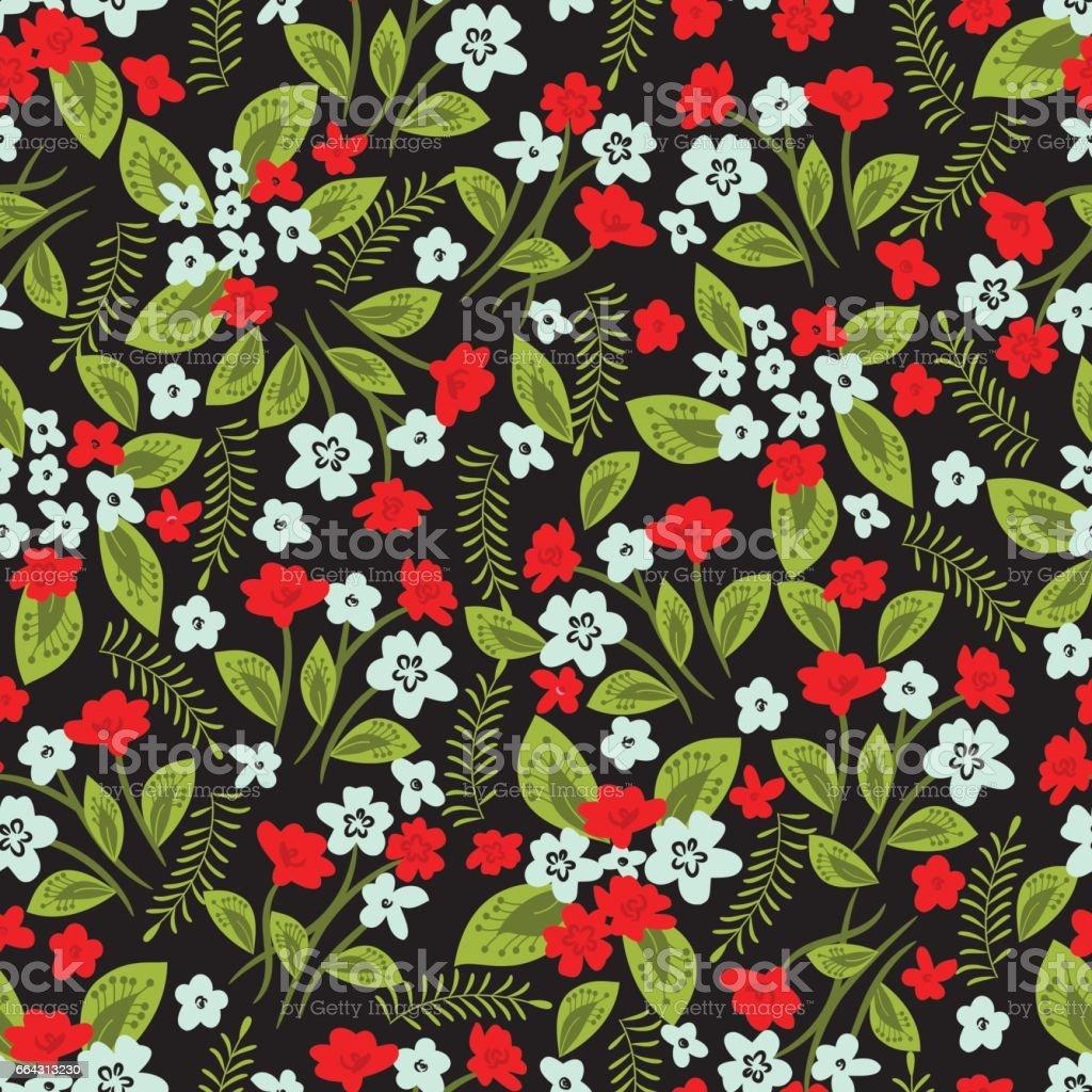 Floral seamless pattern . vector art illustration