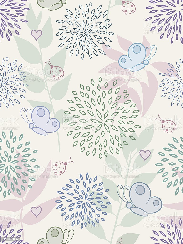 Floral seamless pattern. Vector illustration. royalty-free stock vector art