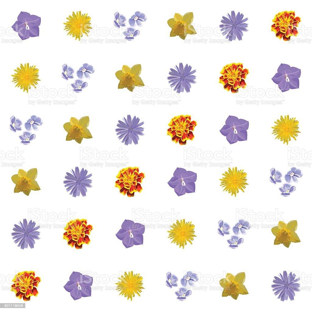 Floral Seamless Texture. Vector Pattern vector art illustration