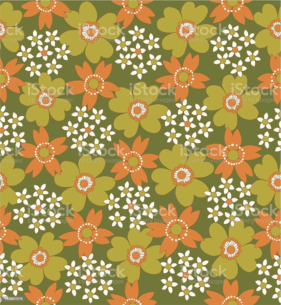 floral seamless tiled pattern vector art illustration