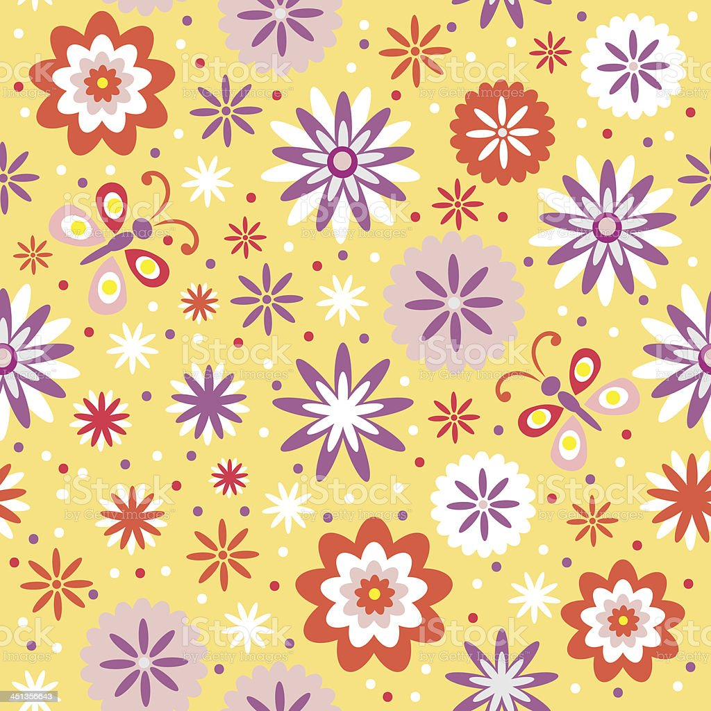 Floral seamless, vector, abstract background royalty-free stock vector art