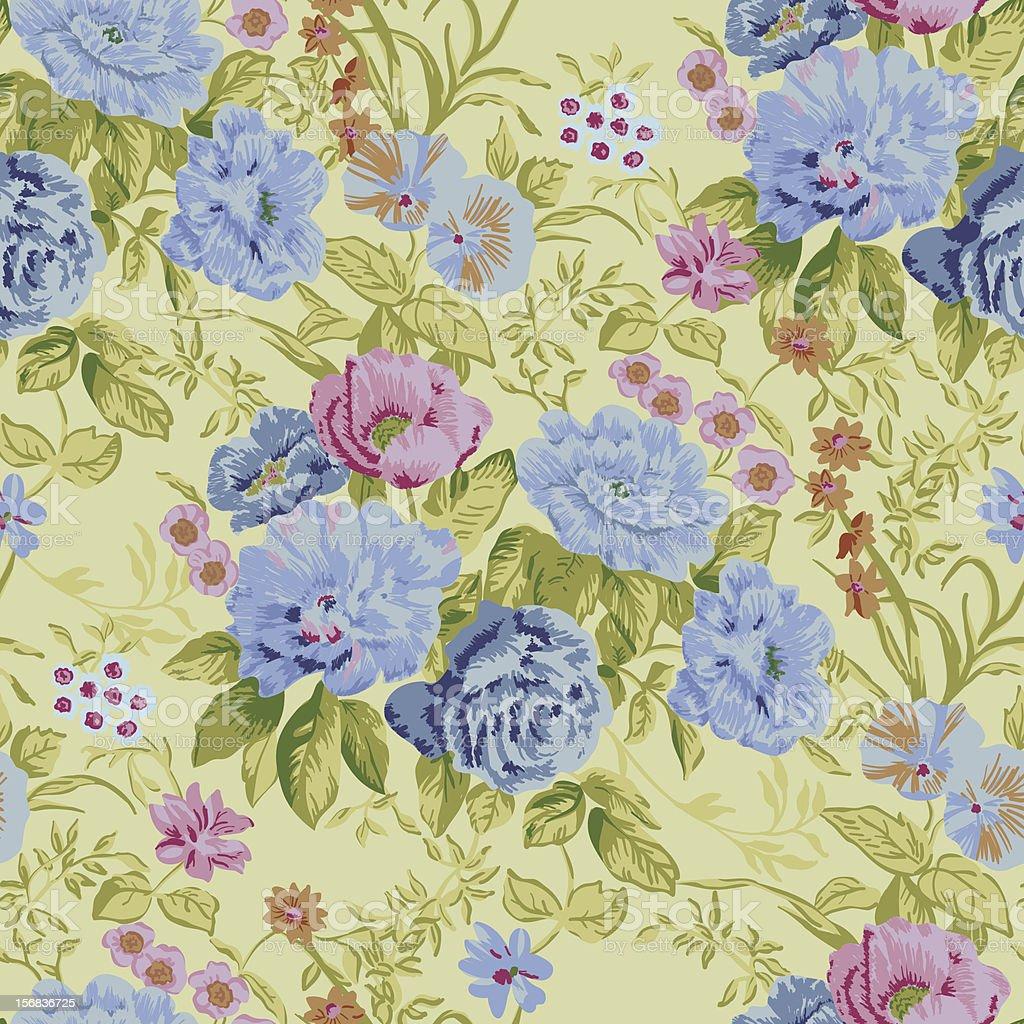floral seamless vector wallpaper vector art illustration