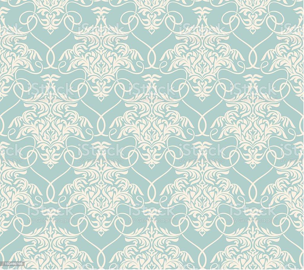 floral seamless wallpaper royalty-free stock vector art