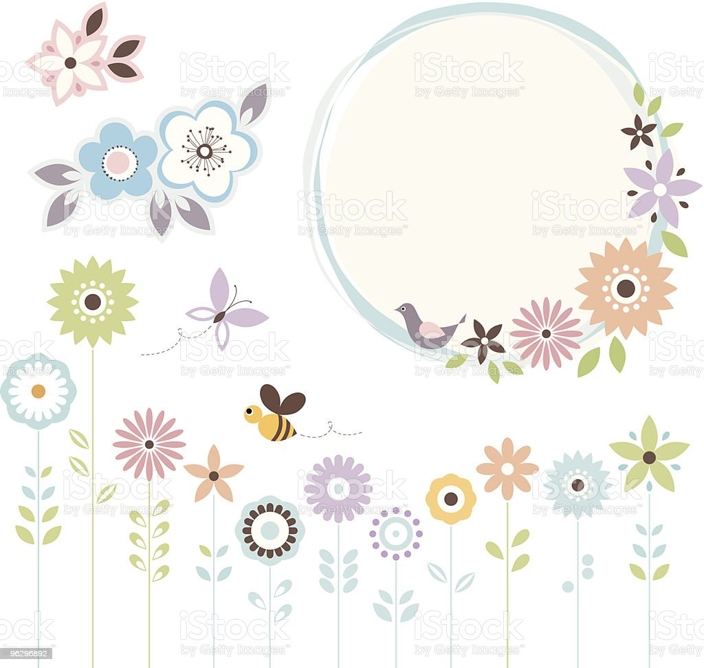 floral set royalty-free stock vector art