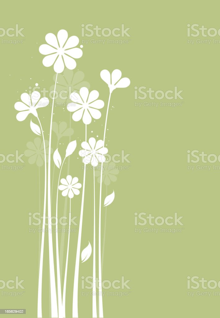 floral silhouette vector art illustration