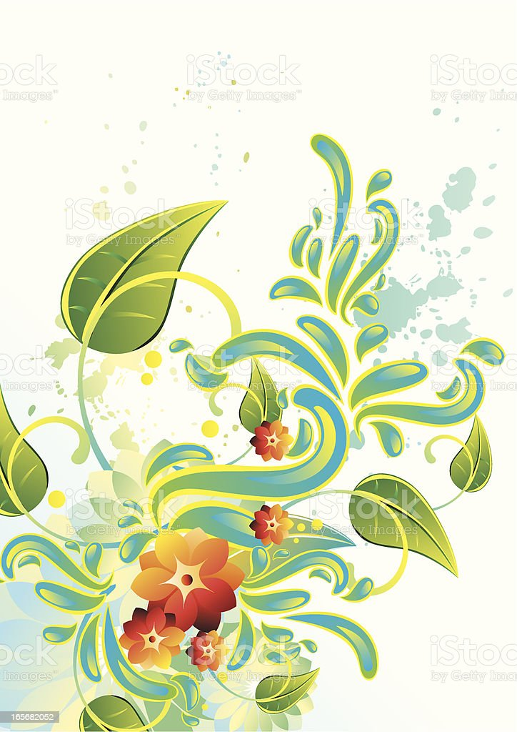 Floral Splash royalty-free stock vector art